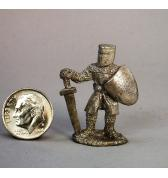13th Century Knight at Ease pewter