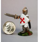 13th Century Knight advancing painted