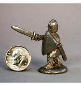 13th Century Knight advancing pewter