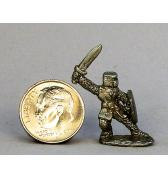 Knight with Bucket Helm Sword Back pewter