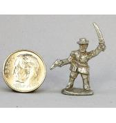 Officer with Sword and Pistol pewter