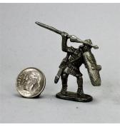 Roman Legionnaire Throwing a Pilum pewter