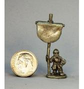 Dwarf with Banner pewter