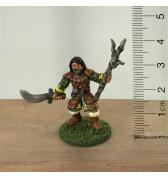 Druid with 3 Branch Staff and Scimitar painted