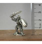 Dwarf in Plate with Sword pewter