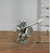 Dwarf with Spear and Shield pewter