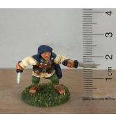 Halfling Rogue with Sword and Knife painted