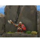 Dwarf with Axe Attacking painted