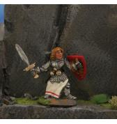 Female Fighter with Sword painted