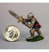 14th Century Knight with 2 handed sword painted