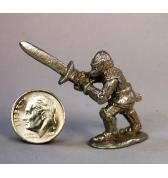 14th Century Knight with 2 handed sword pewter