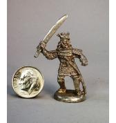 Samurai with Sword pewter