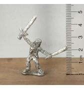 Skeleton with Sword and Club pewter